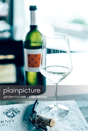 White wine in wine glass