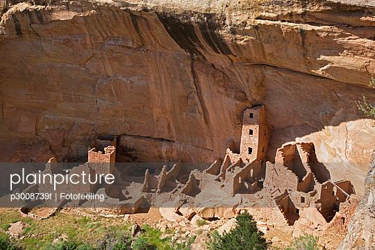USA, Colorado, Mesa Verde National Park, Square Tower House