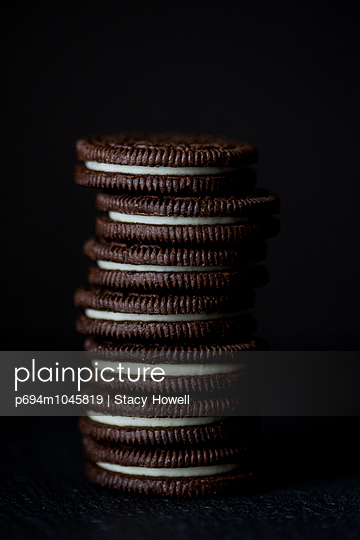 Stack of Oreo Cookies, Close-Up