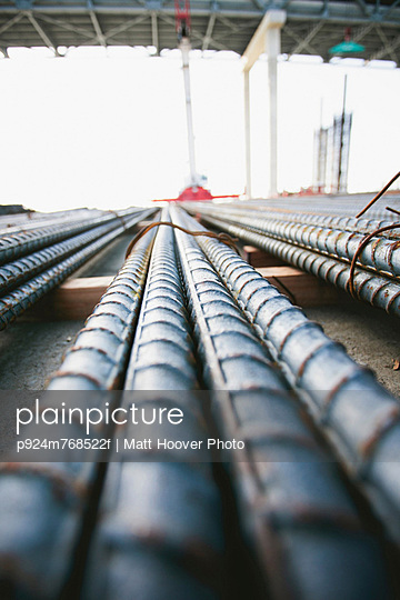 Close up of pipes at construction site