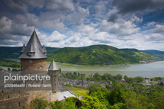 Stahleck Castle and the Rhine River, Bacharach, Germany