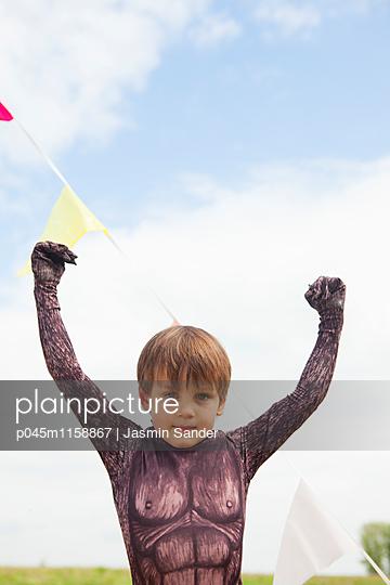 Jubelnder Gorilla - p045m1158867 von Jasmin Sander