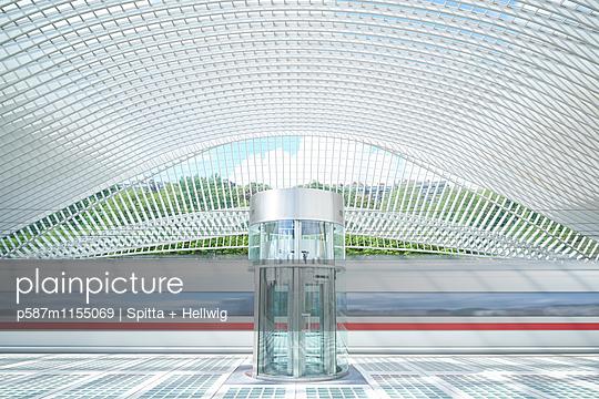 Bahnhof Liège-Guillemins in Lüttich, ICE - p587m1155069 von Spitta + Hellwig