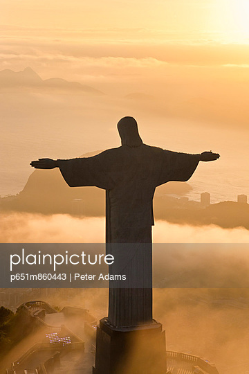 Statue of Jesus, known as Cristo Redentor (Christ the Redeemer), on Corcovado mountain in Rio de Janeiro, Brazil
