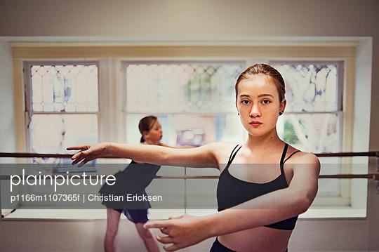 Ballet dancers practicing at dance studio