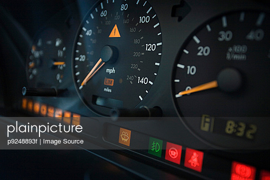 Close up of a dashboard