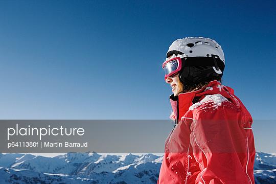 A girl in ski gear