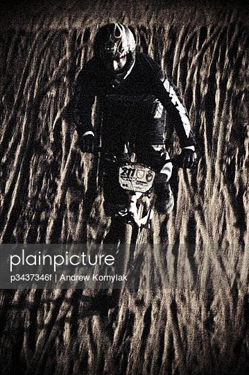 A man rides a BMX bike