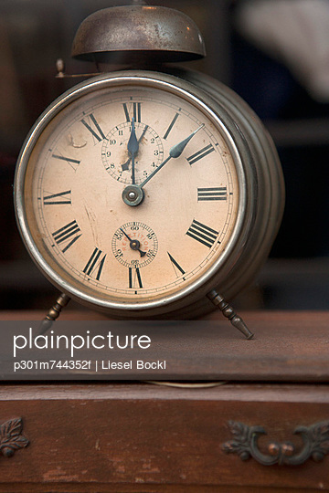 Alarm clock in shop on chest of drawers