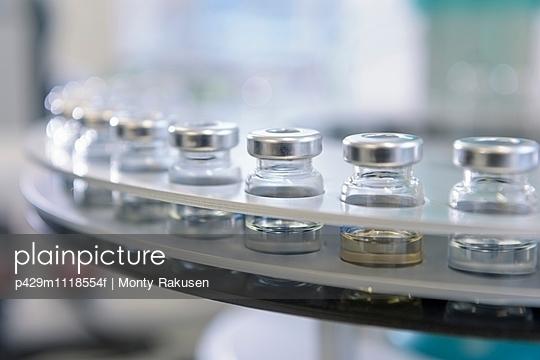 Detail of oil samples in testing machine in laboratory