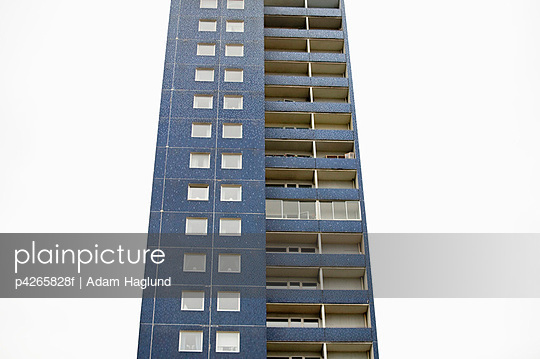 A lonely high-rise building