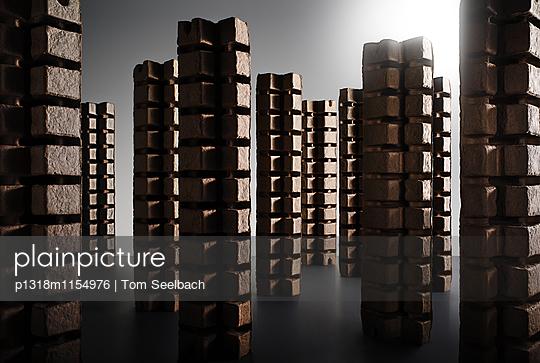 Architecture of wasted Fantasy, Skyscraper - p1318m1154976 von Tom Seelbach