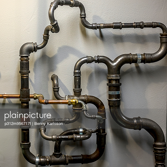 Pipes connected together