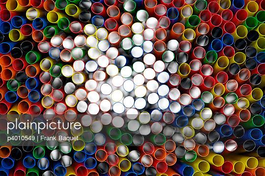 Close-up of straws