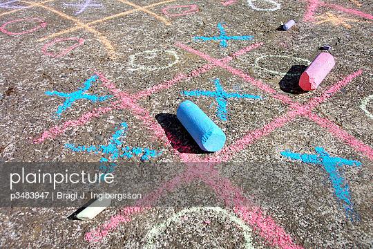 Tic Tac Toe and chalks