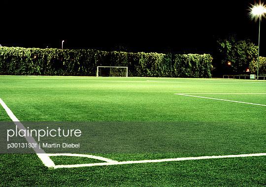 Corner of football field