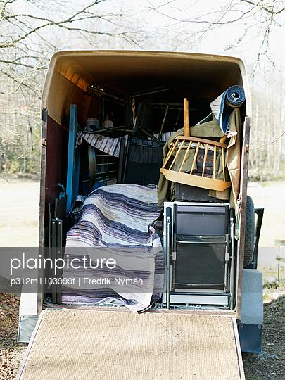 Furniture in van