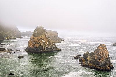 Southwestern Oregon Coast. Samuel H. Boardman State Scenic Corridor. - p1436m2007881 by Joseph S. Giacalone