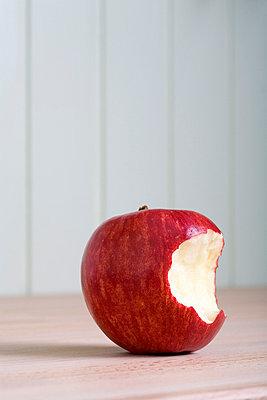 Missing bite from an apple - p3016512f by Iris Friedrich
