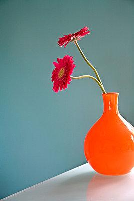 Flowers in flower vase - p4341411f by Mike Hipple