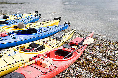 Kayaks - p9245710f by Image Source