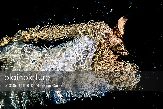 Woman floating underwater - p1019m1461910 by Stephen Carroll