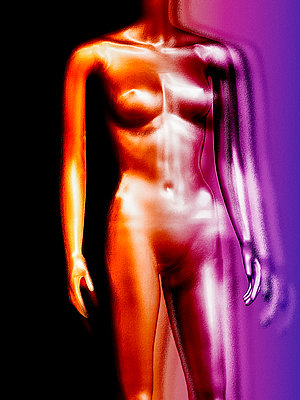 Mannequin in psychedelic colours - p1280m2244753 by Dave Wall