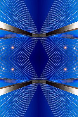 Abstract Architecture Kaleidoscope Zakim Bunker Hill Memoriam Bridge Boston - p401m2233787 by Frank Baquet
