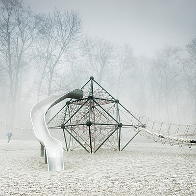 Playground in winter - p992m721004 by Carmen Spitznagel