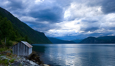 Fishing hut in Norway - p2481083 by BY