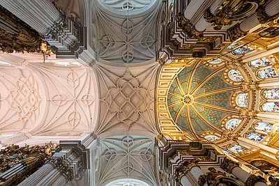 Spain, Granada, Ceiling of the Cathedral - p1332m2205599 by Tamboly