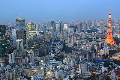 Tokyo skyline - p1399m1442056 by Daniel Hischer
