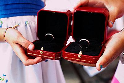 Pair of Wedding Rings - p694m663728 by Maria K