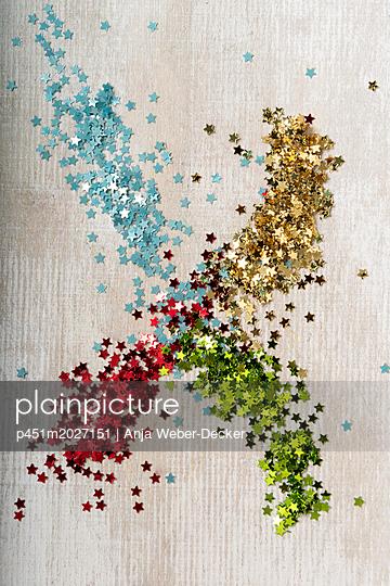 Glitzersterne - p451m2027151 von Anja Weber-Decker