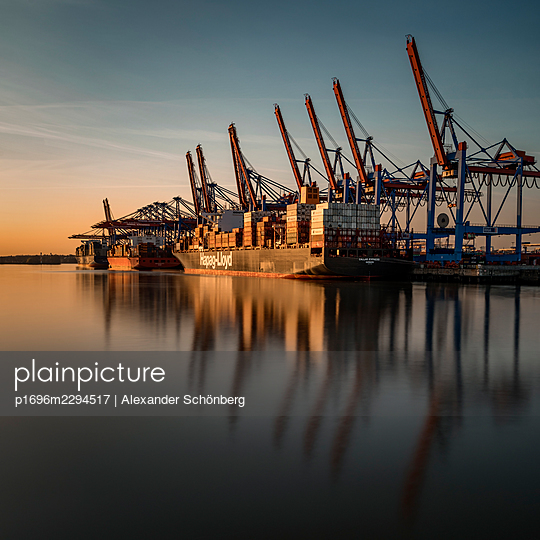 Container harbour - p1696m2294517 by Alexander Schönberg