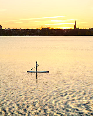 Outer Alster Lake - p1124m1011380 by Willing-Holtz