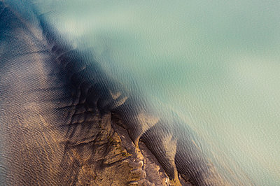Abstract detail of the river  Ölfusá - p1585m2285324 by Jan Erik Waider