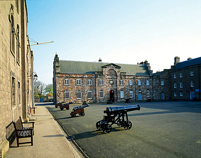 Berwick Barracks. The barracks square or parade ground with cannons. 1717 - p8551701 by Neal Askew