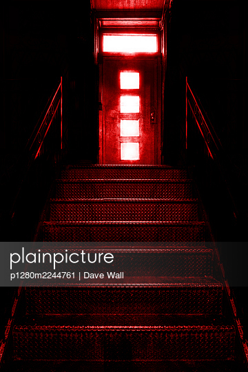 Red-light district, iron steps lead to a brothel  - p1280m2244761 by Dave Wall