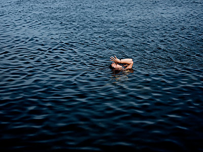Swimming in the lake - p551m2056680 by Kai Peters