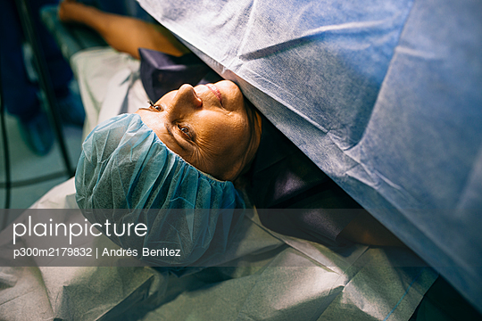 Patient before the operation in an operating room - p300m2179832 by Andrés Benitez