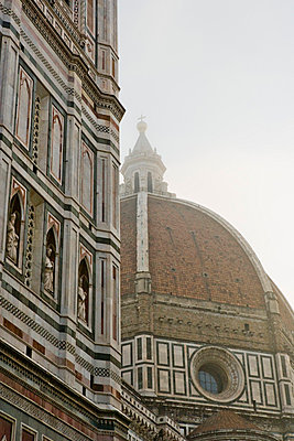 Florence, Italy, Florence Cathedral and Giotto's Campanile in a foggy day - p6751523 by Sandro Di Carlo Darsa