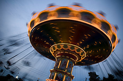 Spinning Carousel at Dusk - p6943887 by Sean McCormick