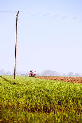 Farmer plowing a field - p228m1003259 by photocake.de