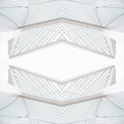 Abstract kaleidoscope pattern Liège-Guillemins station in Liège - p401m2209300 by Frank Baquet