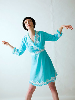 Blue dress - p4130151 by Tuomas Marttila