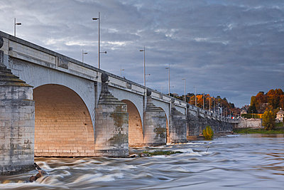 The River Loire and Le Pont Wilson - p871m674488 by Julian Elliott
