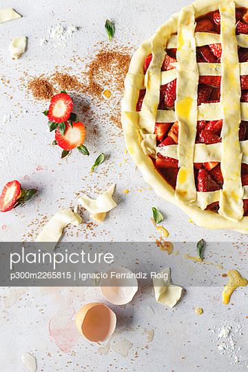 Raw strawberry sweet pie - p300m2265815 by Ignacio Ferrándiz Roig