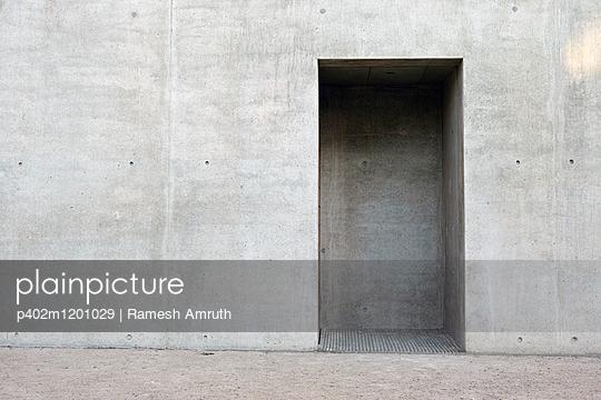 Concrete wall - p402m1201029 by Ramesh Amruth