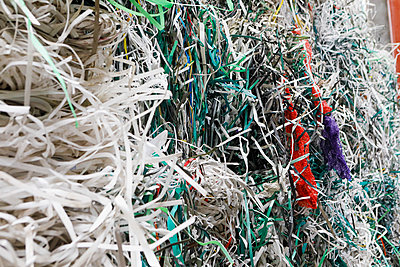 Shredded recycled paper - p301m2213624 by Junophoto
